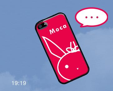 モカのiPhone (Tetra Style LINEスタンプ)