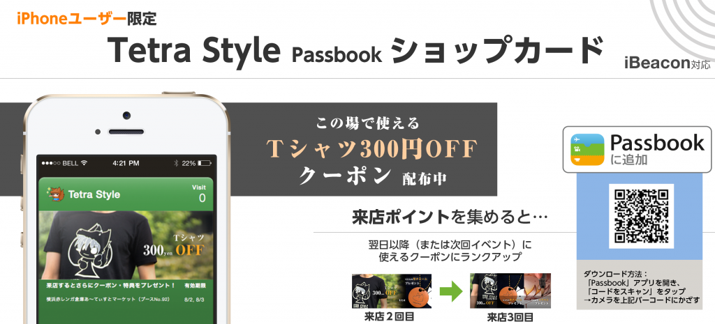 Tetra Style Passbookショップカード