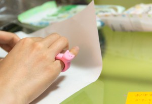 紙粘土の指輪(Tetra Style)