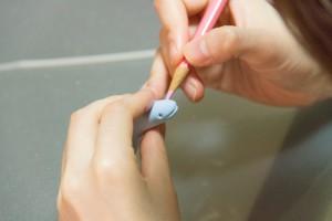 紙粘土で試作(Tetra Style)