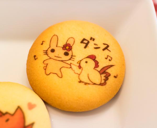 かわいいうさぎプリントクッキー